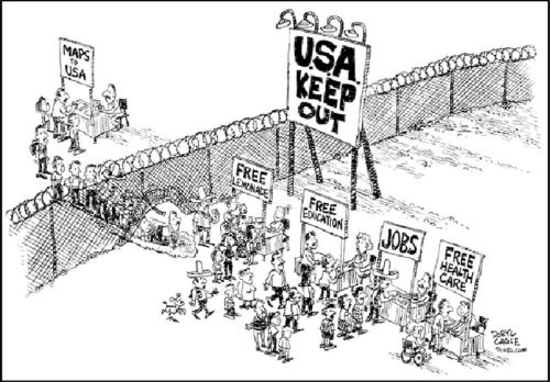 Image result for cartoons bill gates open borders