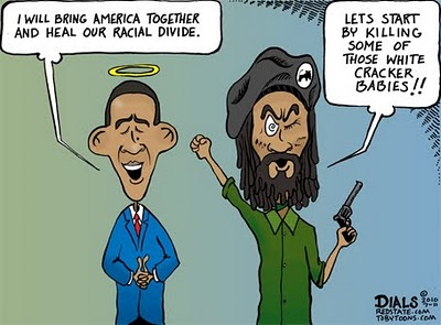 RACIAL HARMONY, OBAMACARTOON