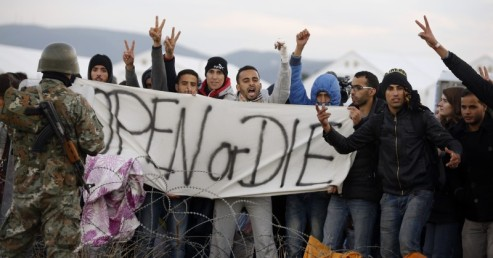 Migrants threaten europeans open borders or die