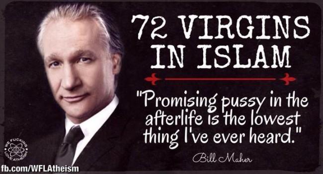 How many virgins do islams get